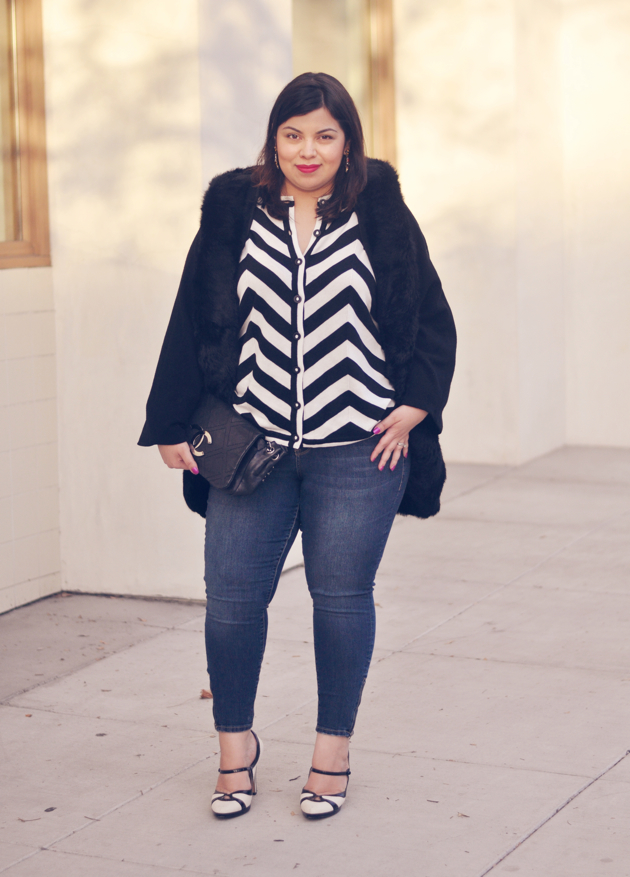 Cute outfit idea: stripes and jeans