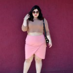 plus size skirt outfit