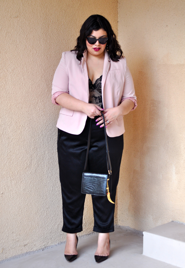 plus size pants and jacket