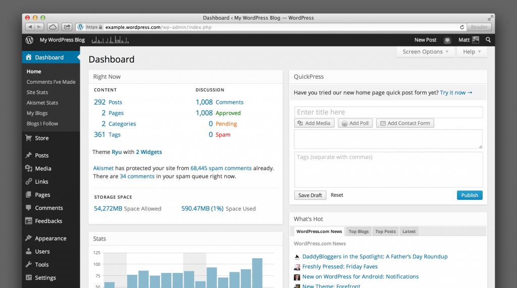 new-wordpress-dashboard