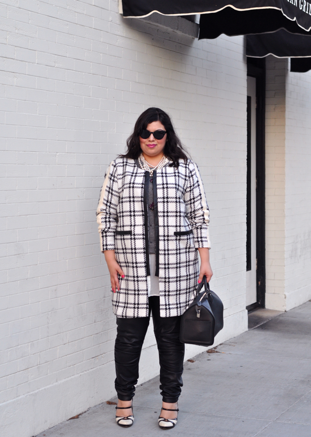 Plaid fall fashion trend coat