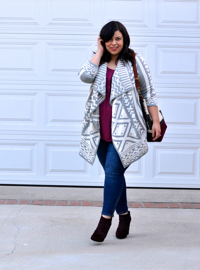 plus size sweater: cardigan