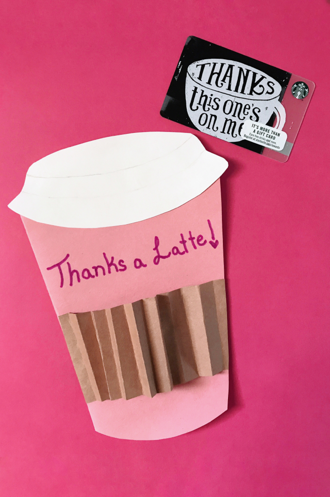teacher appreciation week ideas thanks a latte card
