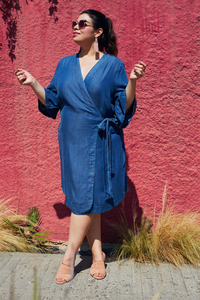 Simply Be plus size denim dress